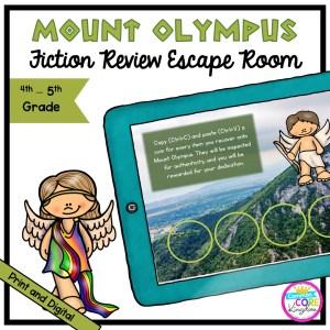 Mount Olympus Greek Mythology Escape Room - 4th & 5th Grade - Digital & Printable