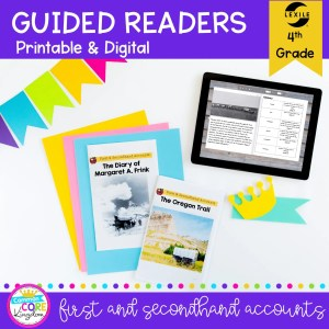 Guided Reading Packet: First & Secondhand Accounts - 4th Grade RI.4.6 - Printable & Digital