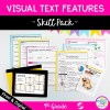 Skill Pack: Visual Text Features in Nonfiction - 4th Grade   RI.4.7 Classroom & Distance Learning