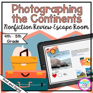 Nonfiction Review Escape Room - 4th & 5th Grade - Digital & Printable