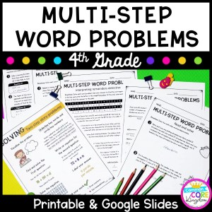 Multistep Word Problems - Google Slides Distance Learning 4.OA.A.3