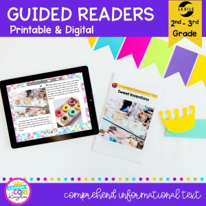 Guided Reading Packet: Comprehend Informational Text - 2nd & 3rd Grade RI.2.10 RI.3.10 - Printable & Digital