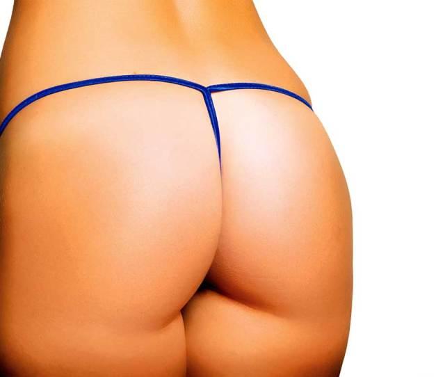 Hot Beach Bum Metallic G String Bikini Bottom