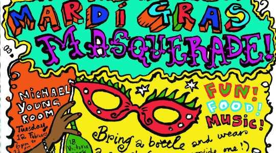 Mardi Gras Masquerade Invite