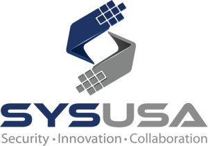 SYSUSA Logo - Security, Innovation, Collaboration.