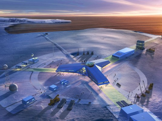 Jang Bogo Antarctic research station concept rendering. Image: Hugh Broughton Architects
