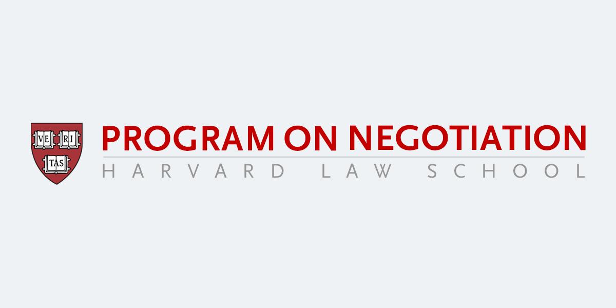 Harvard negotiation project logo