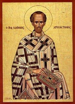 Icoană grecească modernă a Sf. Ioan Gură de Aur