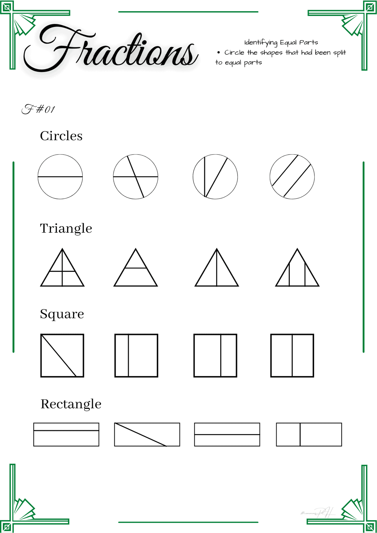 Free Fraction Activity