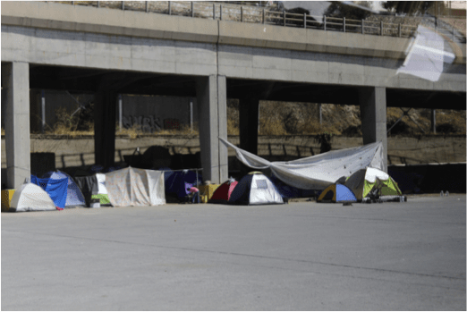 Tents at Athens' Port of Piraeus
