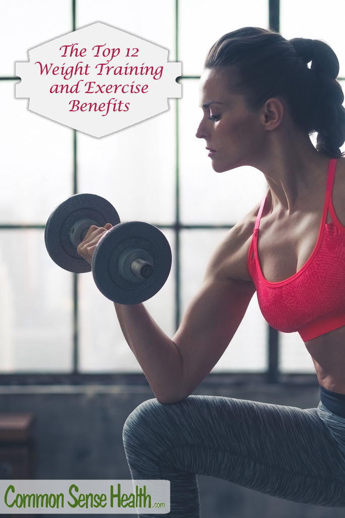 It's cheap and easy to achieve the benefits of exercise and the benefits of weight training. So here are the dynamic dozen exercise benefits for you: