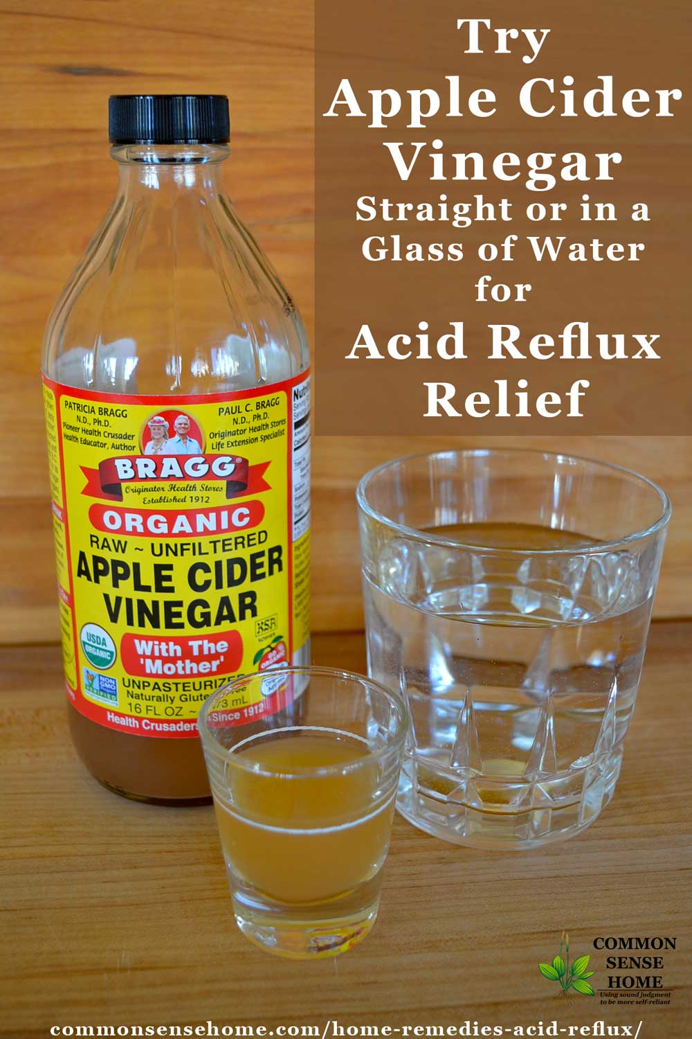 Home remedy for acid reflux and GERD apple cider vinegar