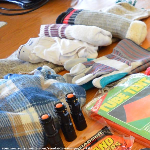 Roadside Emergency Kit Hygiene and Personal Comfort Items