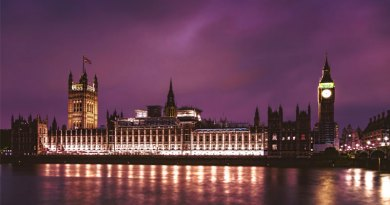 Parliament Palace of Westminster at night
