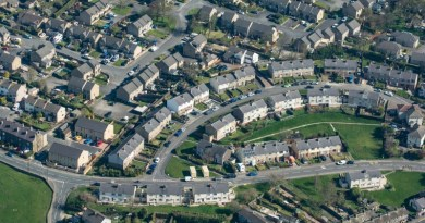 Aerial image of UK homes