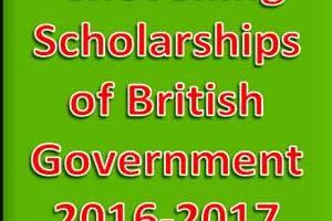 Chevening Scholarships of British Government 2016-2017