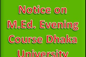 M.Ed. Evening Course