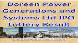 Doreen Power Generations and Systems Ltd IPO Lottery Result