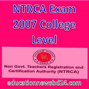 NTRCA Exam 2007 College Level