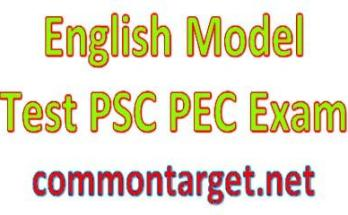 Primary Education Completion PEC English Model Test