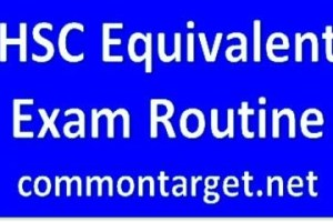 HSC Routine 2018 All Education Board BD