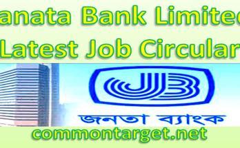 Janata Bank Limited Latest Job Circular 2020