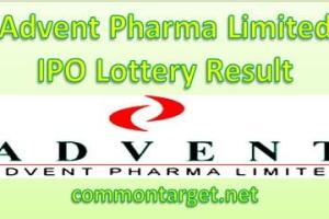 Advent Pharma Limited IPO Lottery Result