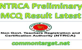 NTRCA Preliminary MCQ Result