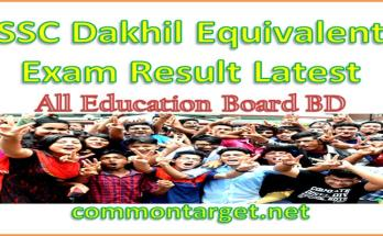 SSC Equivalent Result 2020 All Education Board BD