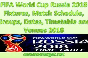 FIFA World Cup Schedule 2018