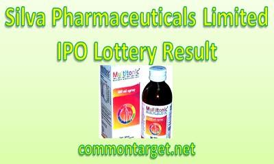 Silva Pharmaceuticals Limited IPO Lottery Result
