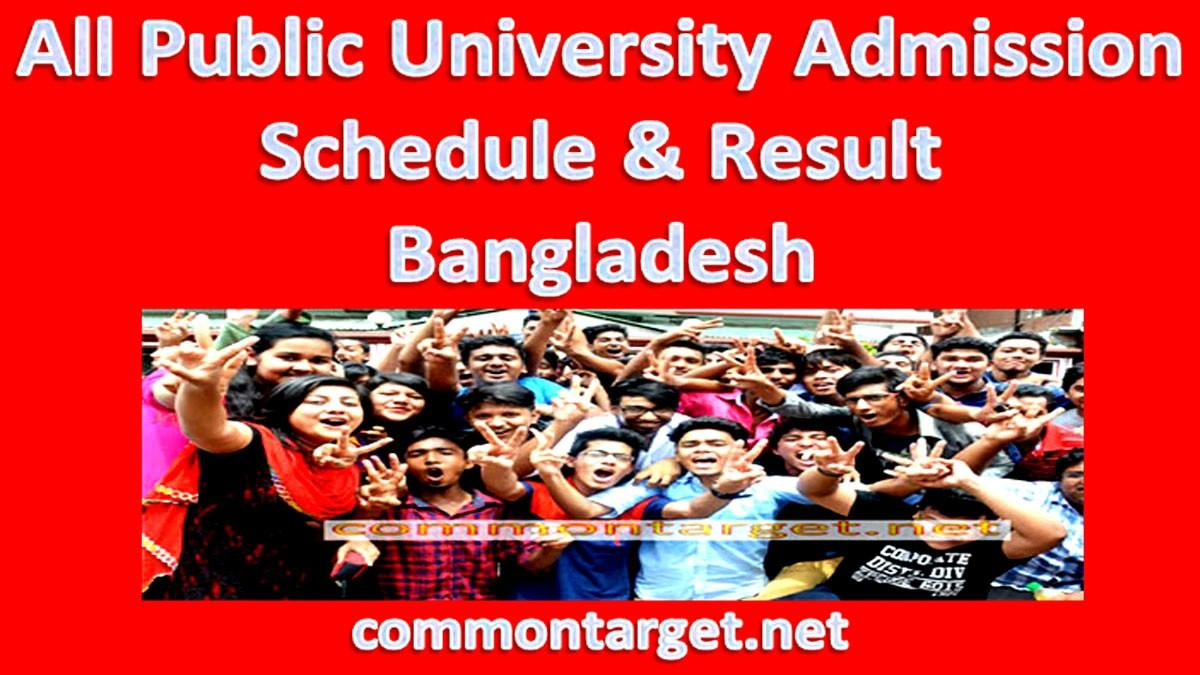 All Public University Admission Schedule 2021