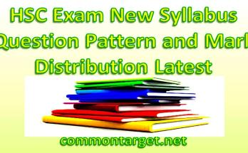 HSC Exam 2020 New Syllabus Mark Distribution