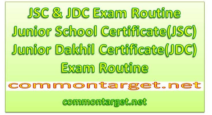 JDC Exam Routine 2020