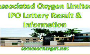 Associated Oxygen Limited IPO Lottery Result 2020