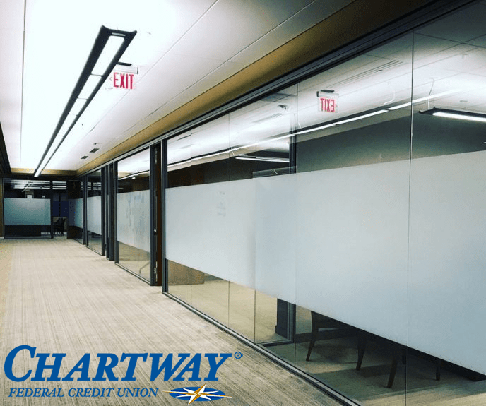 frosted window film, chartway federal credit-union