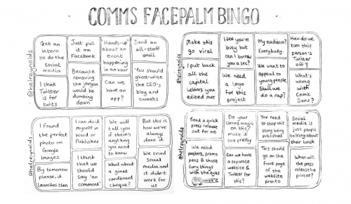 comms bingo sheet