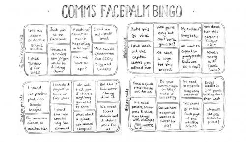 comms bingo sheet