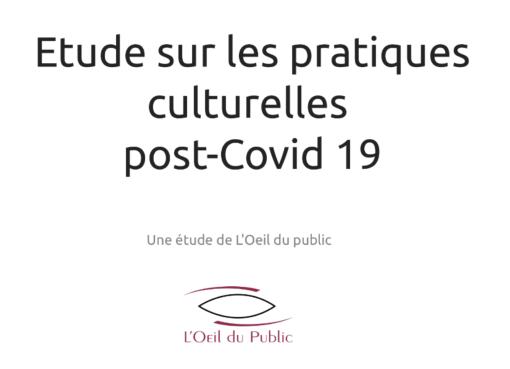 Etude sur les pratiques culturelles post-covid