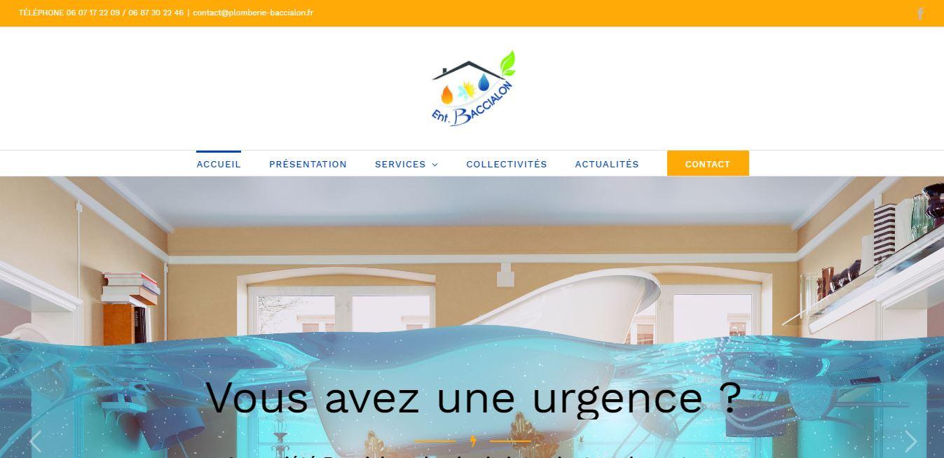 Site Entreprise Plomberie Baccialon Vésubie