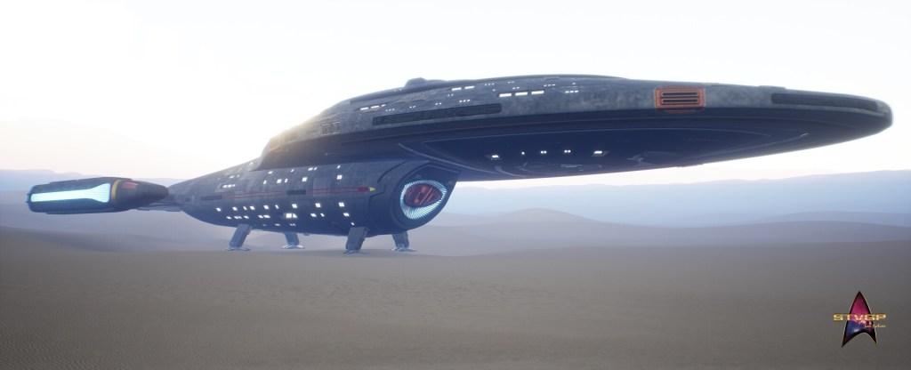 Star Trek Videospiel Vorschau STVGP - U.S.S. Voyager gelandet auf einem Planeten