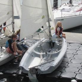 Waiting to go sailing.