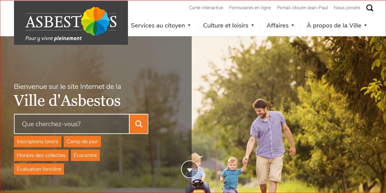Page d'accueil - Ville d'Asbestos