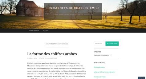 Les Carnets de Charles-Émile