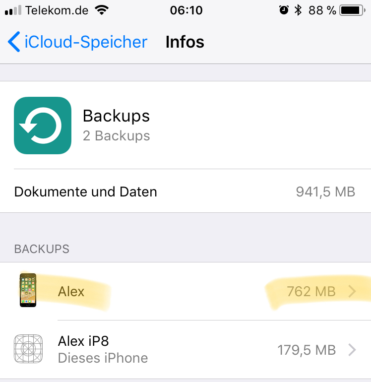 Icloud Backup Lasst Sich Derzeit Nicht Lo Apple Community