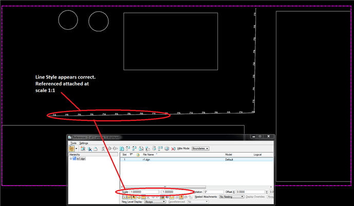 Line Style Scale Change When Referenced MicroStation