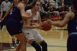 Aledo senior post Chloe Mefford (33) drives to the basket during a recent game. The Ladycats will host the Ladycat Invitational 2016 beginning Thursday at 9 a.m. against Arlington Seguin. The Ladycats will continue pool play at 3 p.m. Thursday against Plano Home School Athletic Association. Bracket play begins Friday, and the championship game is set for 1 p.m. Saturday. All games will be played at the Aledo High School main gym.