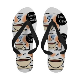 Must have flip flops for all coffee lovers! Wear these unique flip flops and get lots of compliments!