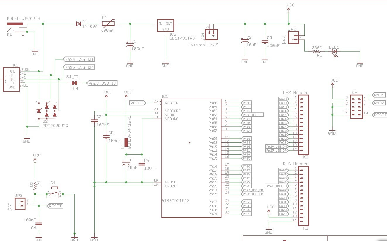 First Time Samd21e18 Basic Wiring Questions