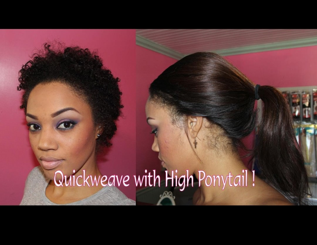 Turn 8 Inch Weave To 20 Inches Invisible Ponytail Method